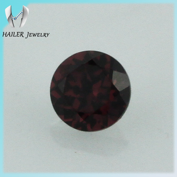 2mm round natural red garnet