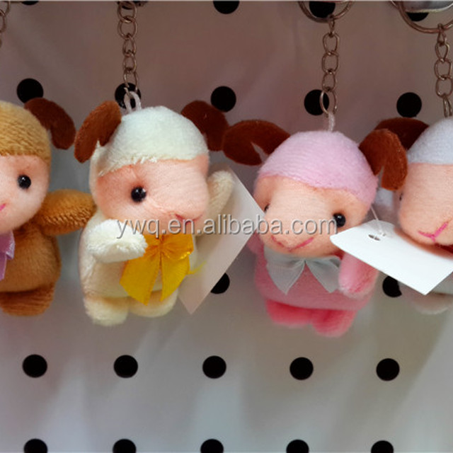 Customed small 8 cm Sheep toys / sheep keychains /keychains of stuffed plush