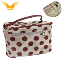 Portable fashion cosmetic bag makeup case for travel