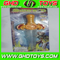 Solid color flashing sword (can be loaded sugar) cheap small plastic candy sugar toys for sale for gift FOOD TEST