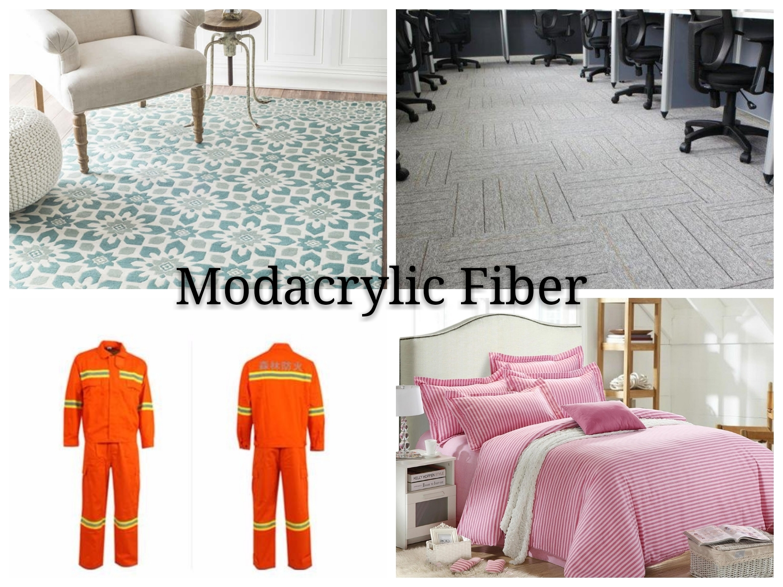 1.5D 2D 3D fr 100% modacrylic fiber fire proof fiber