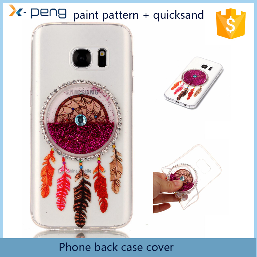 World best selling products tpu + quicksand accessories Painting Cell phone back cover case for lg g5