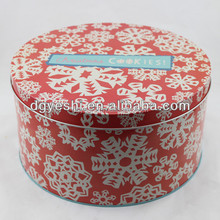 Wholesale custom empty Round tea metal tin boxes