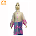 transparent printed rainwear raincoat for children