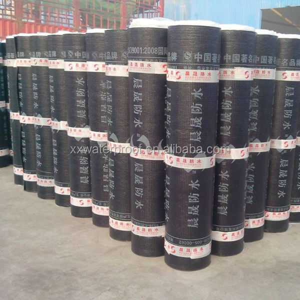 cheap 2/3/4mm SBS bitumen waterproof membrane, roll building roof asphalt material / aluminum foil sheet