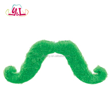 New Premium 2017 Adhesive Green Glitter Die Cut Foam Mustache Stickers Fake Mustache