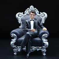 Polyresin Life-like Realistic Action Figures Man Sitting On the Sofa
