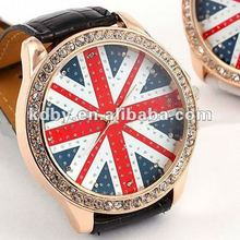 Rose Gold UK National Flag Watch Tactical Watch advertisement of watches