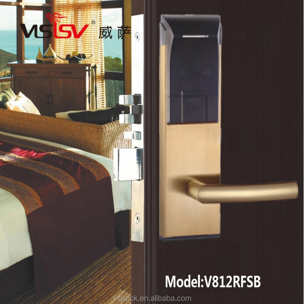 Stainless steel Induction card hotel lock hotel management system door lock