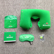 Wholesale fashion travel three sets go out convenient air pillow eye mask with earplugs dean and sanitary