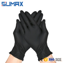 Medical or Surgical Class Powder Free Black Disposable Nitrile Gloves