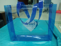 REACH standard promotional pvc shopping bag with handle