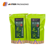 Customized food packaging stand up tea bag materials with zipper