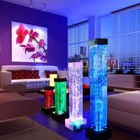 small tabletop water fountain light,water bubble decor mini led lamp,led lighting square column lamp