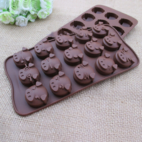 wholesales Pig shaped silicone chocolate cake mold silicone baking cake mold cake decoratiing mold