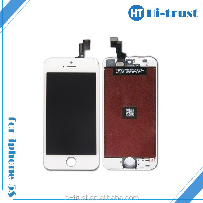 Black and White Color & Free DHL Glass Touch Screen Digitizer LCD Full Assembly Replacement for apple iphone 5s glass repair