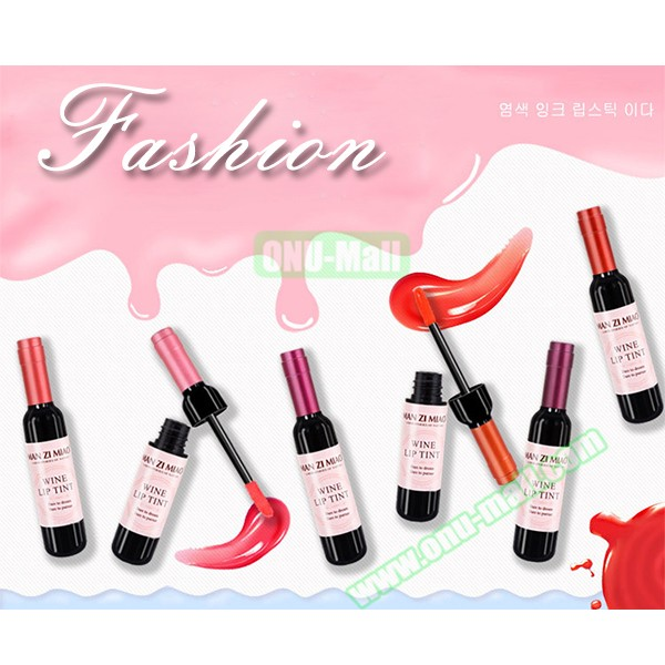 Long Lasting Wine Bottle Lip Tint Makeup Moisturizer Lip Gloss Matte Liquid Lipstick
