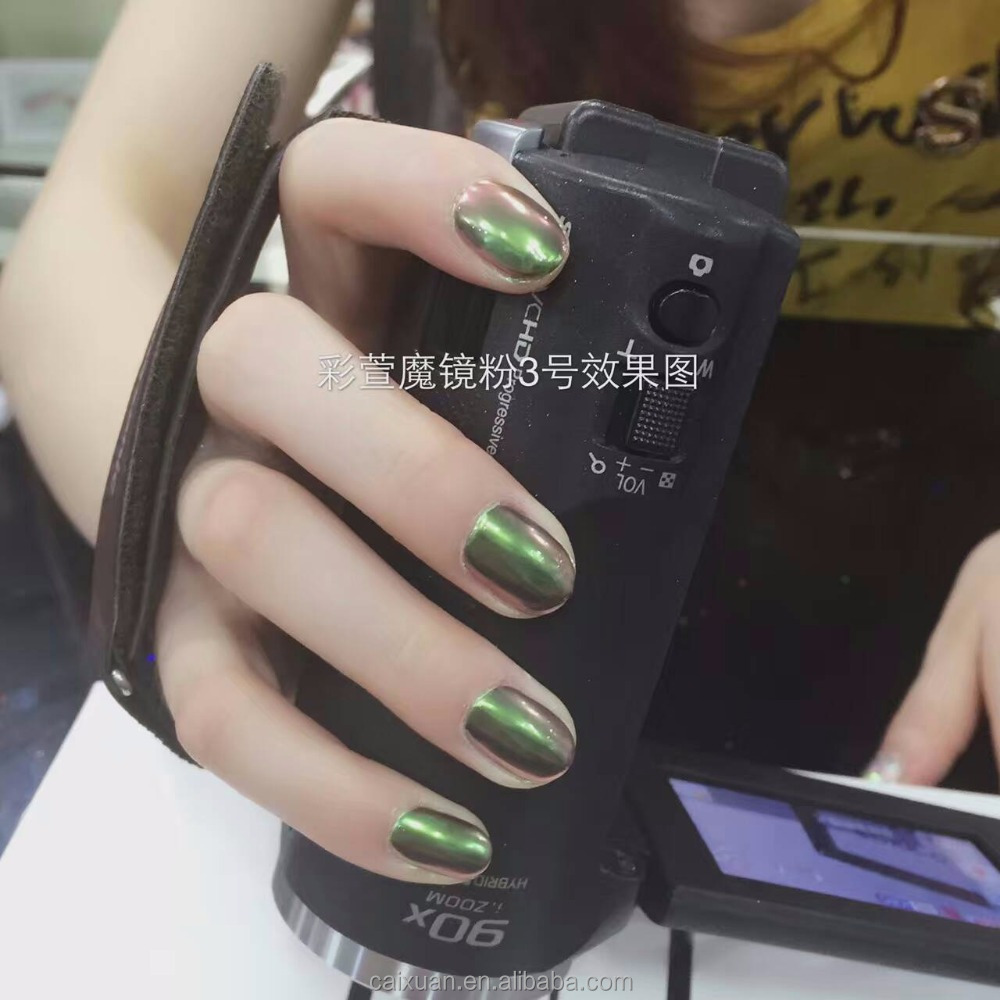 Free Sample!!! CAIXUAN nail art supplier 2016 hot sale mirror effect gel polish mirror effect pigment