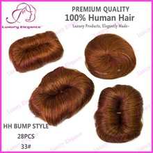 Wholesale Real 100% Brazilian Human Hair Full Head Short Weave Color 33