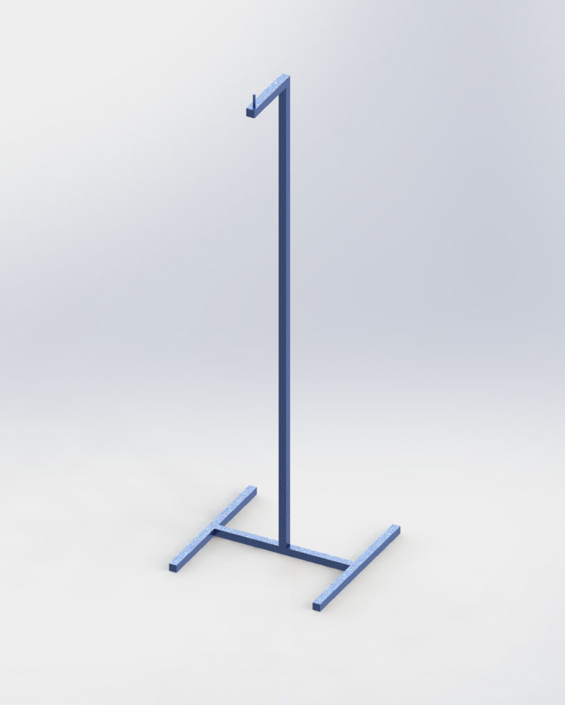 C8564 shirt hanging display stand for steaming