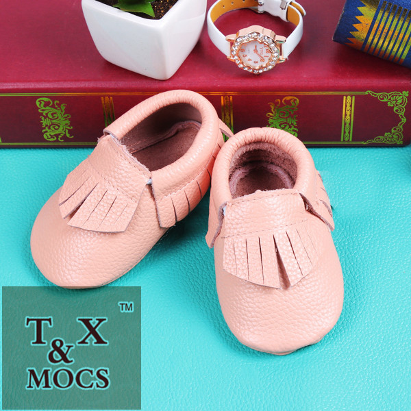 Genuine Leather Mac&Lou Baby Toddler Moccasins