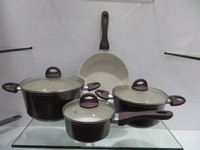 ceramic coating marble dot cookware set eco-friendly