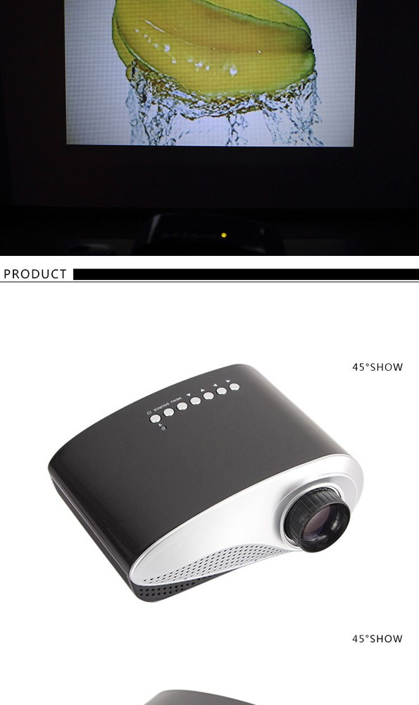 Home theater cinema projector LED HOME 222 multimedia portable video mini led projector with HDMI USB SD AV VGA
