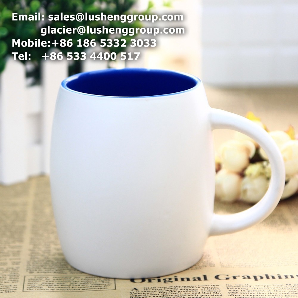 Cable Rubber customized color changing stoneware mug ,2017 new model