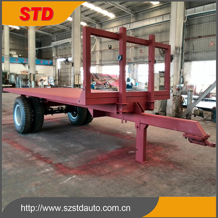 Shenzhen agricultural flatbed trailer 7 meters flat bed trailer price