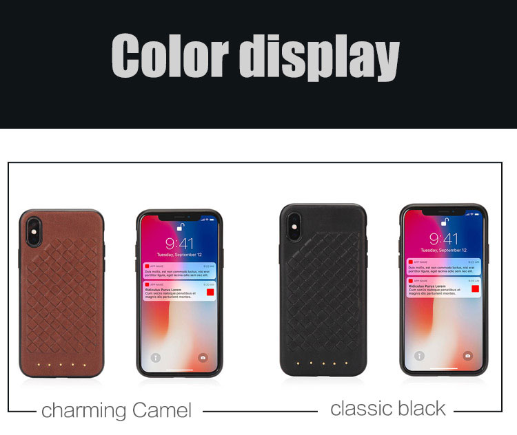 Made of high quality cross stitch PU leather back cover  phone case for Iphone  X 5.8 2018