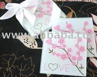 Cherry Blossom Love Glass Coasters
