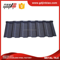 Colorful stone coated steel roof metal tile for house