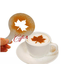 16pcs/set Plastic Coffee Latte Cappuccino Barista Art Stencils / Cake Duster Templates Coffee Tools Accessories