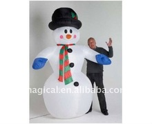 christmas inflatable snow man modle inflatable cartoon inflatable decoration