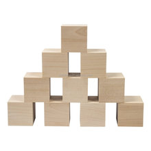 Custom cheap unfinished natural wooden block