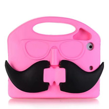 For iPad Mini 1 2 3 4 Case Bulk Moustache Silicon Kid 7Inch Tablet Case