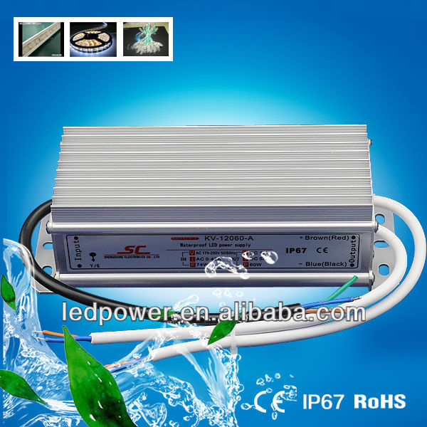 KV-12060-A Power supply 60W IP67 led driver 12v 5a