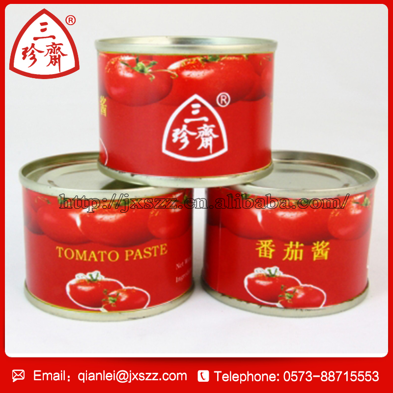 2016 wholesale best brix 28-30% tomato paste in tin can