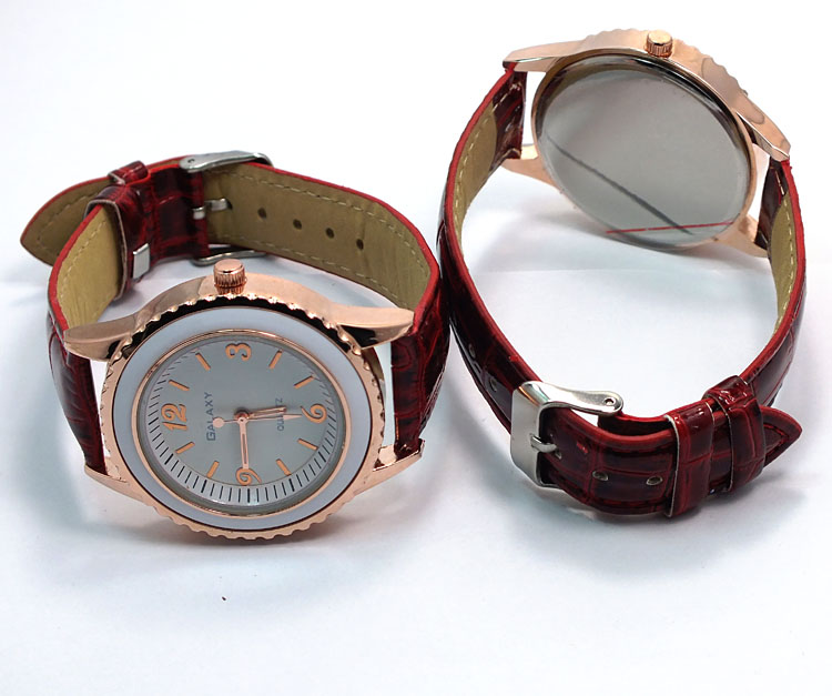 2019 Top selling lady watches leather steel watch
