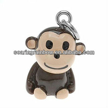 monkey cell phone charm