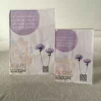Acrylic Menu Holder 4x6 Vertical Picture Frame Free Standing