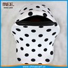 solid color dot print cute baby winter car seat cover