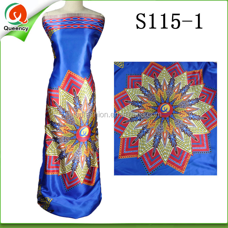 queency silk lace fabric silk print ankara fabric polyester crepe satin