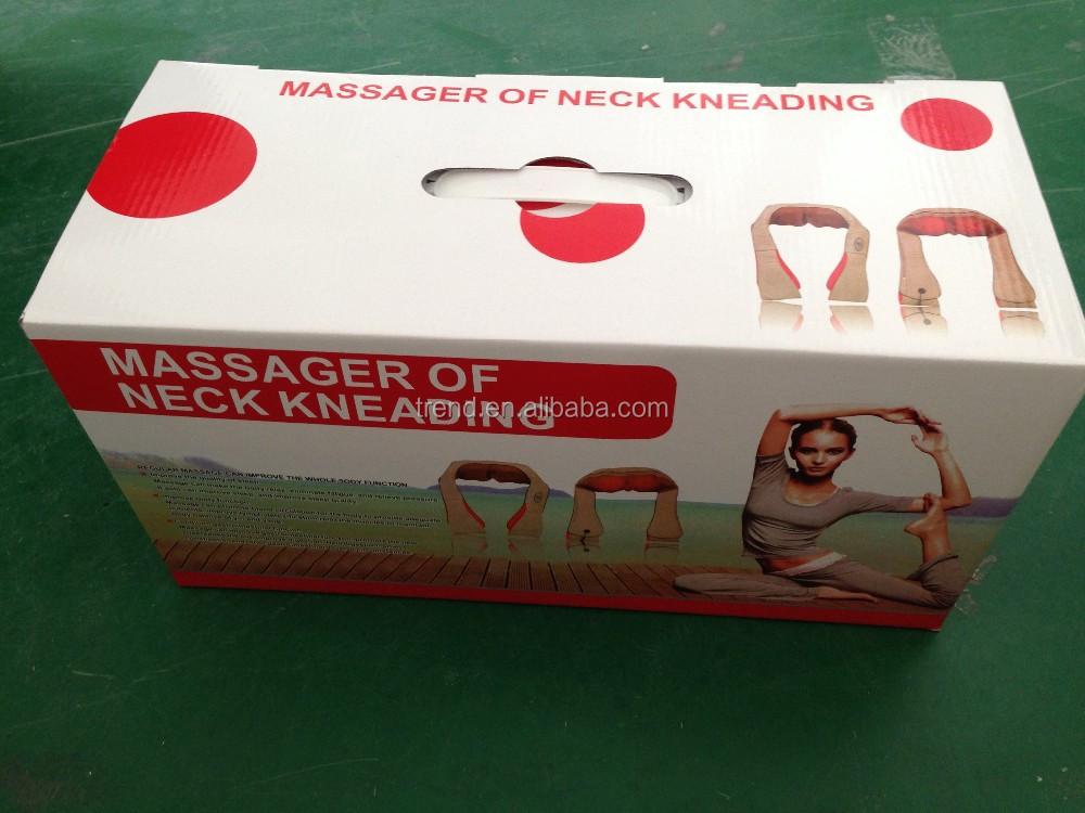 Neck and shoulder kneading and heating massage belt