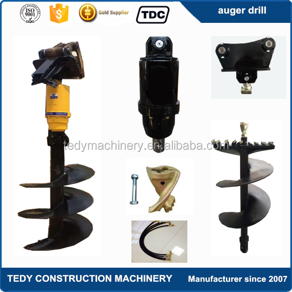 TDC12000 excavator hydraulic earth auger ground hole drill