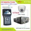 "Factory Direct Supply Handheld 4.3"" MPEG-4 Satellite Finder Meter with AHD CCTV Camera Monitor"