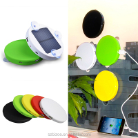 Portable power bank solar mobile phone charger with LED light solar charger for cell phone solar power bank