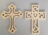 wooden cross decoration with different carving design
