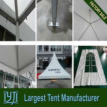Aluminum frame PVC tent with glass door for shade