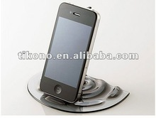 2012 newest novel plastic stand for iphone,tap design holder for iphone stand for ipad 2